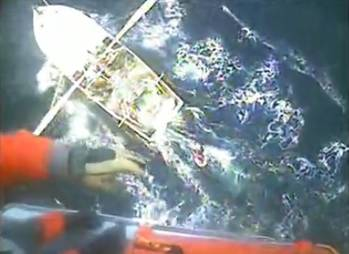 File screen capture from USCG video