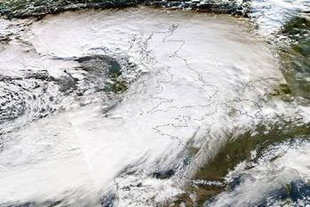 File Severe storms have battered the UK. NASA