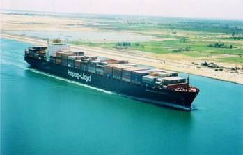 File A containership transits the Suez Canal (Photo courtesy of the Suez Canal Authority)