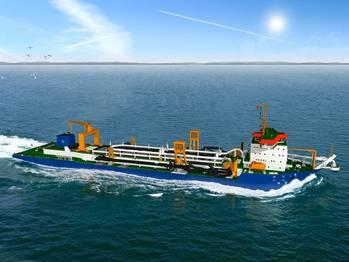 File China order suction dredger: Image credit IHC Merwede