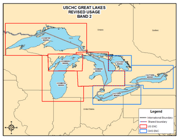 File Great Lakes Revised ENC Usage: Image credit NOAA