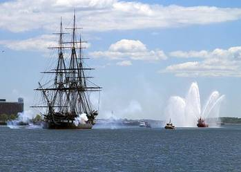 File Salute, USS Constitution: Photo credit USN