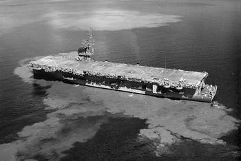 File USS Thetis Bay (LPH-6). (Photo: U.S. Navy National Museum of Naval Aviation)