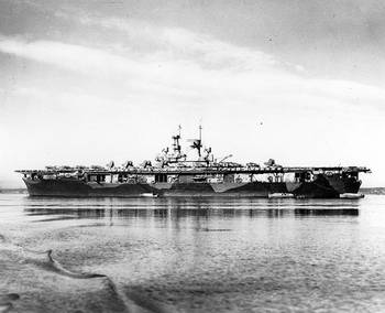 File USS Wasp (CV-7). U.S. Naval Historical Center Photograph.