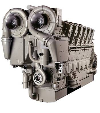 File V250 marine engine: Image credit GE Marine