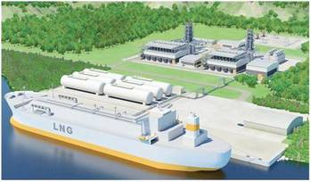 File Illustration of small-scale LNG terminal with adjacent gas power plant (copyright: Wärtsilä)