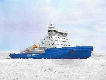 File The new icebreaker built by Arctech Helsinki Shipyard for the Finnish Transport Agency and powered by Wärtsilä dual-fuel engines will be the most environmentally friendly icebreaker ever built.