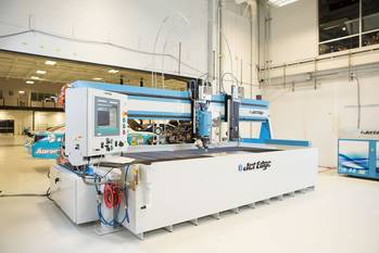 File Michael Waltrip Racing recently installed Jet Edge's new EDGE X-5 5-axis waterjet.  MWR cuts more than 1,000 parts for each of their Sprint Cup Cars.