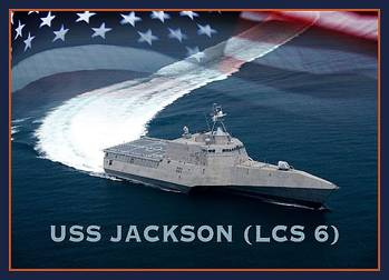 File An artist rendering of the littoral combat ship USS Jackson (LCS 6). (U.S. Navy photo illustration by Jay M. Chu/Released)