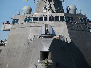 File The littoral combat ship USS Independence (LCS 2). U.S. Navy photo by Doug Sayers
