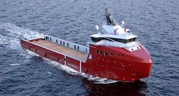 File The PSV vessel is of VARD 1 08 design and will be delivered to owner Farstad Shipping ASA in Autumn 2014.