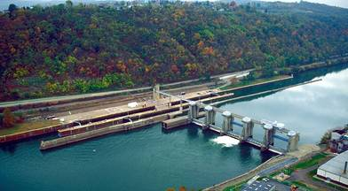 Locks & Dam 4, Monongahela River, also known as Ch