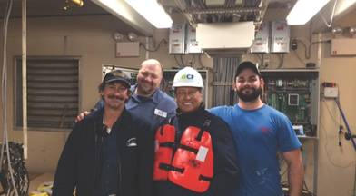 Ed Grimm, (second from left) CEO, Southern Towing