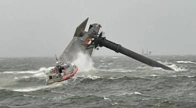 A U.S. Coast Guard Response Boat-Medium boat crew
