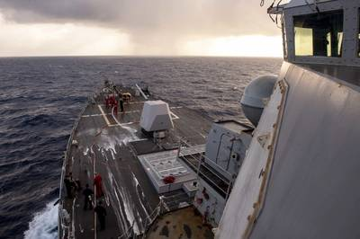 Arleigh Burke-class guided-missile destroyer USS William P. Lawrence (DDG 110) (Photo: Caledon Rabbipal / U.S. Navy)