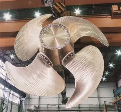 Schottel SCP controllable-pitch propeller systems of the 5-X series are available with  power ratings from 1,000-20,000 kW.