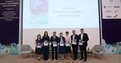 The first sector-specific Maritime Sustainability Reporting Guide was launched by MPA and its partners to encourage maritime companies to embark on or further invest in sustainability reporting efforts. Photo: MPA