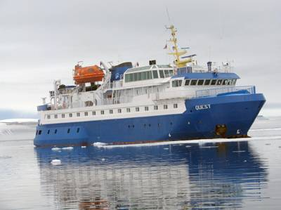 164-foot arctic expedition ship M/V QUEST.