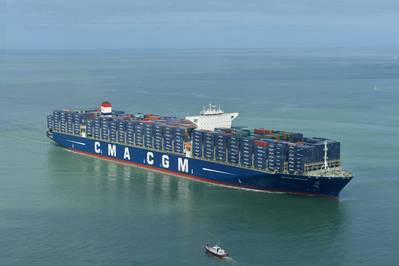 17,722 TEU vessel CMA CGM Kerguelen was delivered to the group on March 31 (Photo: CMA CGM)