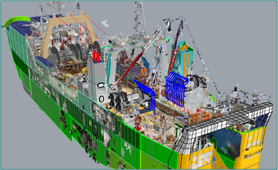 3D model overlayed with vessel scan (Image: EBDG)