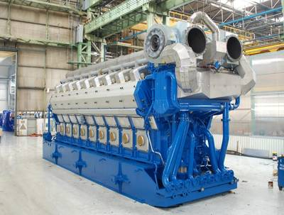 50 DF Marine Diesel Engine: Image courtesy of Wärtsilä
