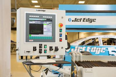 5-Axis Water Jet Controller: Image courtesy of Met Edge