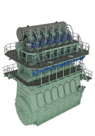 7G70ME-GI engine: Image courtesy of MAN