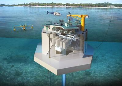 A 1MW plant developed by the Korea Research Institute of Ships and Ocean Engineering (KRISO) which will be built for installation off the coast of South Tarawa, Republic of Kiribati, in the South Pacific Ocean.