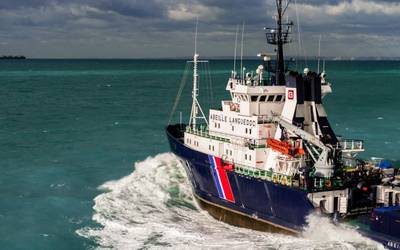 A bourbon offshore support vessel underway (CREDIT: Bourbon)