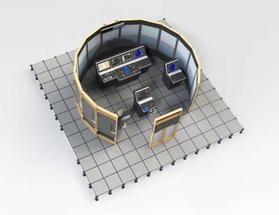 A bridge simulator for mariner training