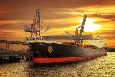 A bulk carrier loading coal in Port of Gdansk, Poland (© Nightman / Adobe Stock)