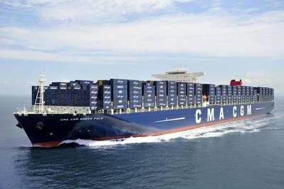 A CMA CGM boxship underway in a file image (CREDIT: CMA CGM)