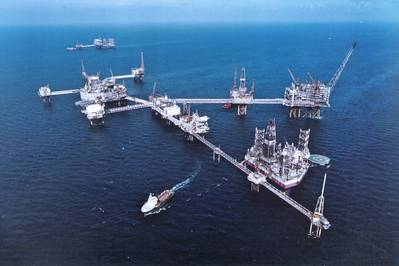 A ConocoPhillips superstructure in the Ekofisk field (Photo: Bolidt).