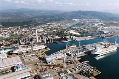 A Fincantieri shipyard: Photo courtesy of the shipbuilders