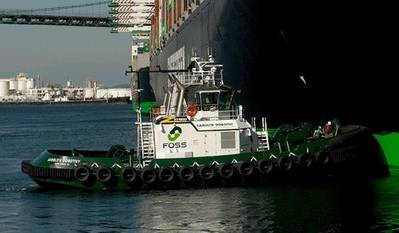 A Foss Maritime Tugboat: Photo courtesy of Foss Maritime
