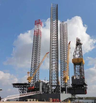 A Keppel Jackup-rig: Photo courtesy of Keppel Fels
