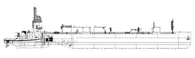 A line drawing of ATB Polaris/Clean Canaveral. Source: McAllister