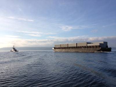 A local barge underway near the port of Everett (CREDIT: port of Everett)