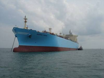 A Maersk VLCC: Photo courtesy of Maersk Tankers