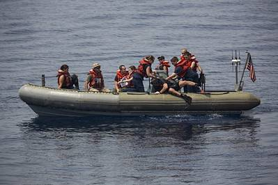 A Navy RHIB:Photo courtesy of USN