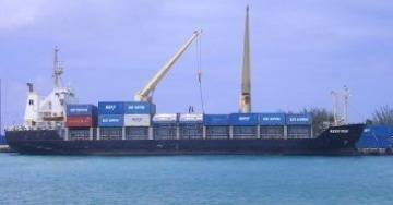 A Reef Shipping Vessel: Photo credit Reef Shipping