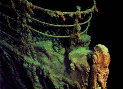 A view of the bow of the Titanic (Photo: NOAA and the Russian Academy of Sciences)
