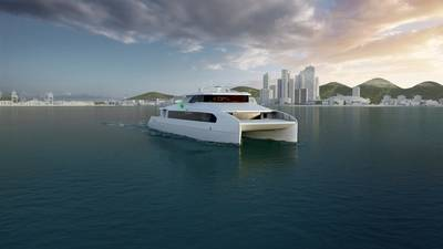 ABB has secured a contract with Haemin Heavy Industries shipyard to provide a complete power and propulsion solution for Busan Port Authority's first all-electric passenger ferry (Image: ABB)