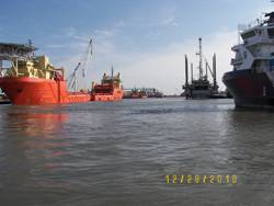 Activity in the Port of Lafourche, LA.
