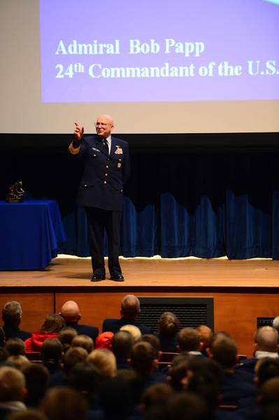 Adm. Bob Papp's address: Photo USCG