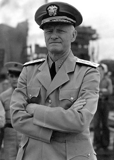 Admiral Chester W. Nimitz (Official U.S. Navy Photograph, National Archives)