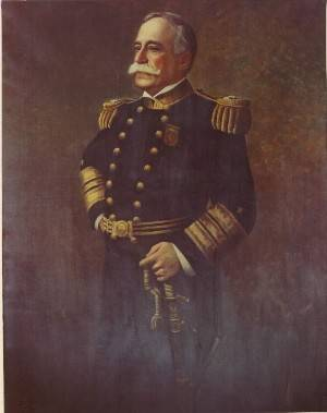 "Admiral George Dewey, USN. Oil On Canvas, 72""x48"", by N.M. Miller (20th C.), painted 1911. (courtesy Naval History and Heritage Command)"