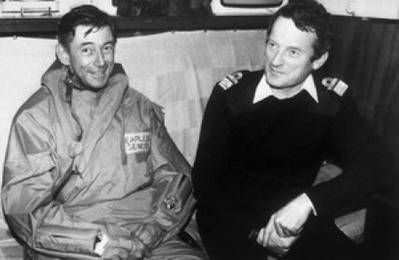 Admiral John 'Sandy' Woodward (right) with Major General Jeremy Moore: Photo courtesy if UK Government