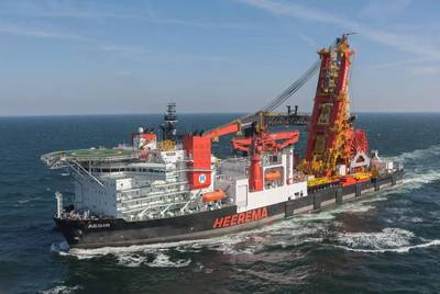 Aegir Deepwater Construction Vessel - now converted to a fast sailing heavy lift vessel. Image: Ulstein