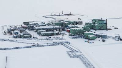 Aerial view of BP Alaska's Prudhoe Bay operations. Photo: BP Images
